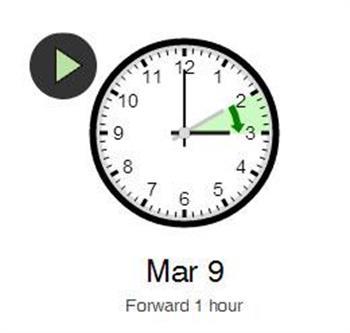 Mar 9, 2014, 2:00 AM_Clock changes in Toronto, Ontario, Canada_1 hour Forward