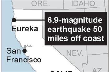 Powerful quake shakes N. California; no injuries