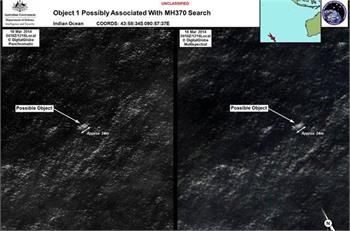 Australia taking closer look at two objects in search for MH370