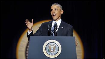 اوباما در سخنرانی خداحافظی: شما مرا رئیس جمهور بهتری کردید