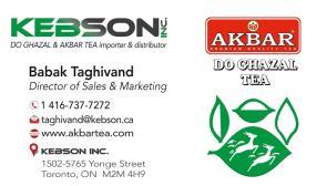 1 Kebson Inc. - Akbar Tea - Do Ghazal Tea - Do Ghazal Rice