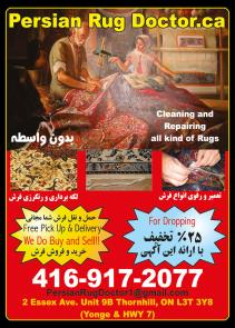 1-  Persian Rug Doctor - Rug Repairs - Cleaning - Rug Accessories