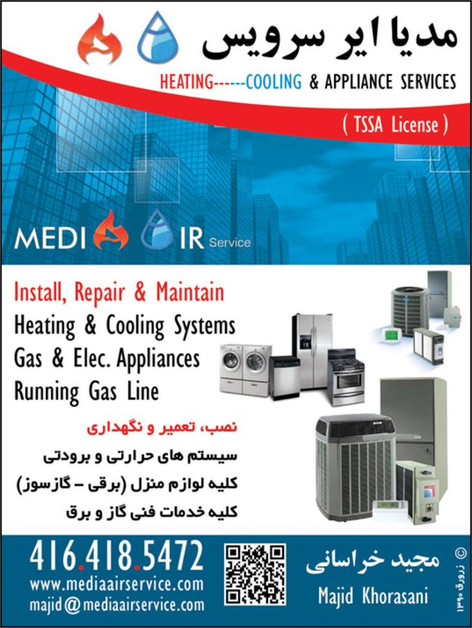 Zarvaragh Heating Cooling System Gas Lines And Fire